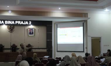 Rapat Evaluasi Pelaksanaan Pembangunan Triwulan II Tahun 2019 dan Persiapan Penyusunan Laporan Evaluasi Pembangunan Triwulan III Tahun 2019